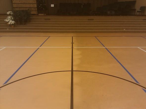 Cleaning of rubber gym floor @ Westview Baptist Church, Sanford, FL
