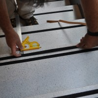Terrazzo Stairs Replace Grit Strips