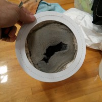 Vacuum bag after high-reach cleaning